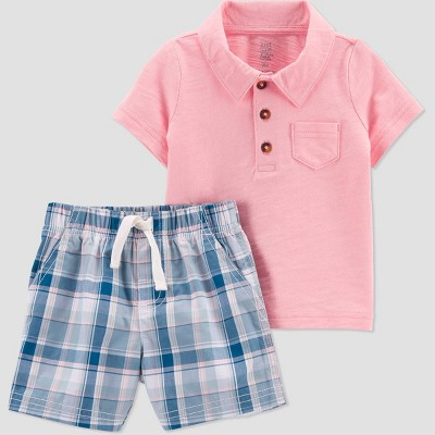 Baby Boys' Plaid Top & Bottom Set - Just One You® made by carter's Blue 3M