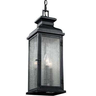 Generation Lighting Pediment 3 light Dark Weathered Zinc Outdoor Fixture OL11109DWZ