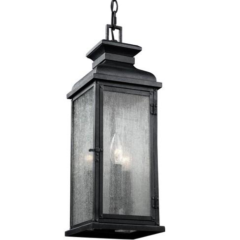 Generation Lighting Pediment 3 light Dark Weathered Zinc Outdoor Fixture OL11109DWZ - image 1 of 2