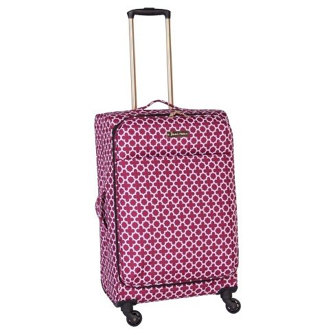 "Jenni Chan Aria Broadway 24"" Soft Spinner Suitcase - Cranberry - image 1 of 4"