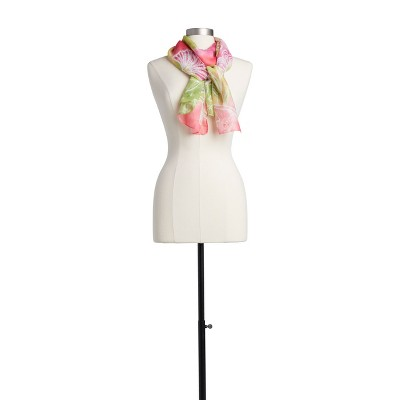 DEMDACO LS Rectangle Scarf - Bird Motif pink