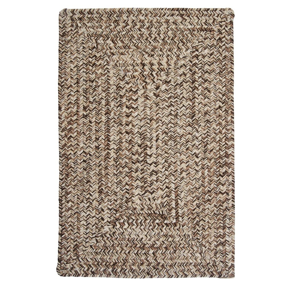 Image of 10'x10' Forest Tweed Braided Area Rug Brown - Colonial Mills, Size: 10'x10'