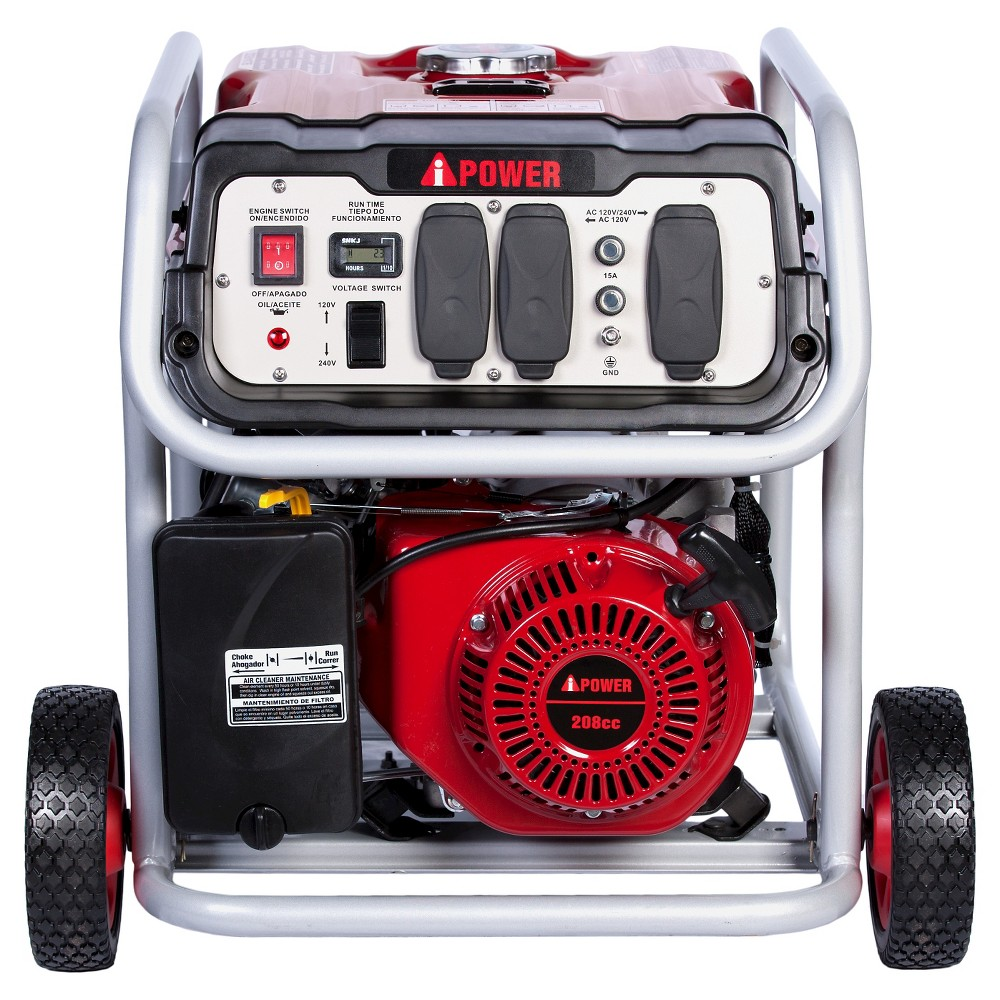 Image of 4500 Watt Gasoline Powered Portable Generator Manual Start - A-iPower