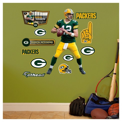 NFL Green Bay Packers Aaron Rodgers Fathead Wall Decal Set - image 1 of 1