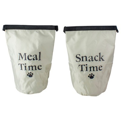 Northlight Set of 2 Portable Pet Snack and Food Treat Pouch Bags