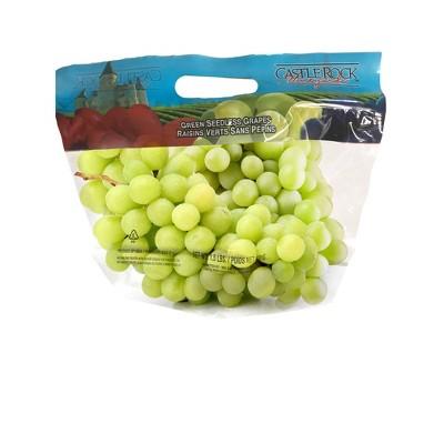 Extra Large Green Seedless Grapes - 1.5lb Bag