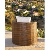 3pc Manchester Outdoor Wicker Patio Chat Set Brown - Abbyson Living - image 4 of 4