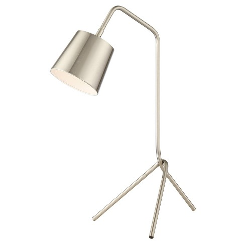 Quana Table Lamp Brushed Nickel (Includes Light Bulb) - Lite Source - image 1 of 1