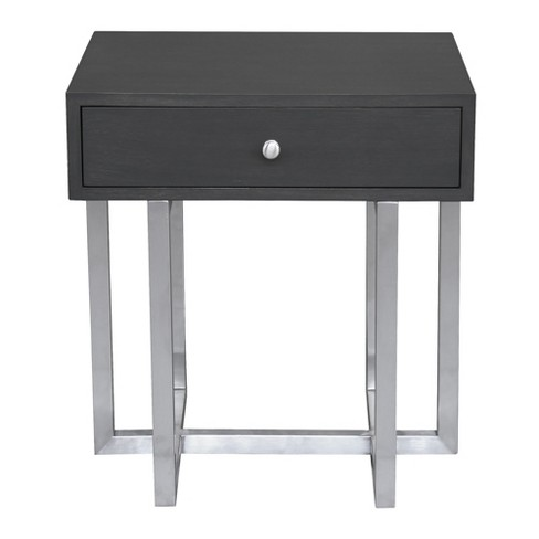 Armen Living Knight Contemporary Lamp Table Gray - image 1 of 2