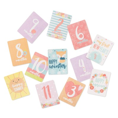 Milestone Cards Happy Hues 12pk (4 x6 )- Cloud Island™ Pink