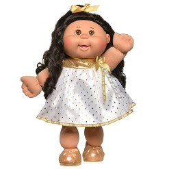 "Cabbage Patch Kids 14"" Celebration Brown Eyed Kid - White & Gold"