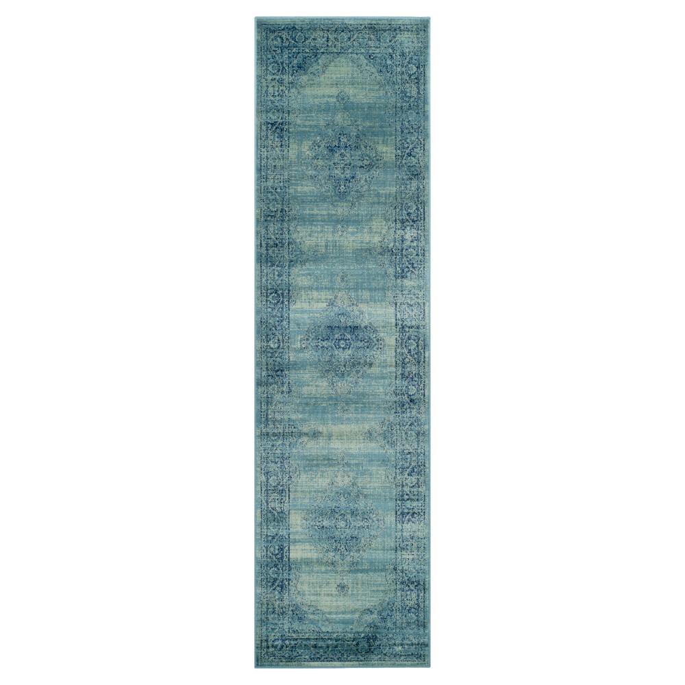 Turquoise Adalene Vintage Inspired Rug (2'2x6') - Safavieh