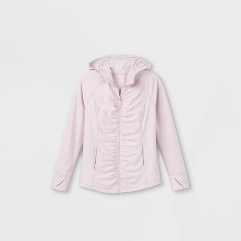 Girls' Soft Full Zip Hoodie Pullover - All in Motion™ - image 1 of 2
