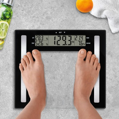Glass Body Fat Scale Clear - Weight Watchers : Target