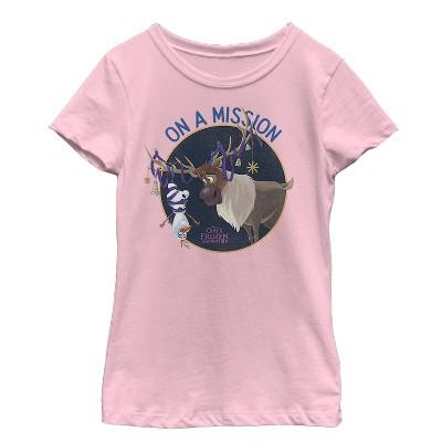 Girl's Frozen Olaf Sven Mission T-Shirt