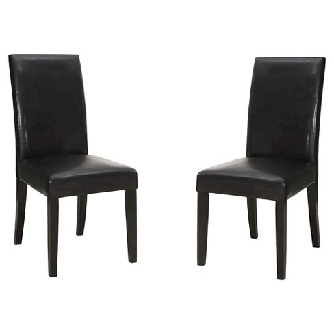 Bonded Leather Side Dining Chair (Set of 2) - Armen Living - image 1 of 1
