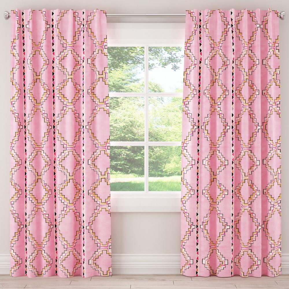 Unlined Curtain Yuma Light Pink 63L - designlovefest