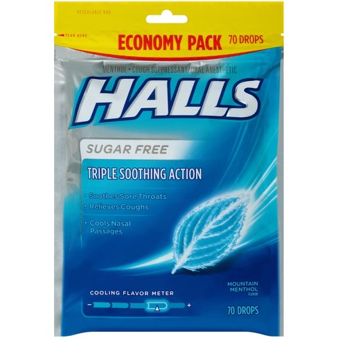Halls Sugar Free Cough Drops - Mountain Menthol - 70ct - image 1 of 1