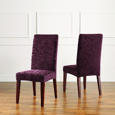 Etonnant Stretch Jacquard Damask Short Dining Room Chair Cover   Sure Fit : Target