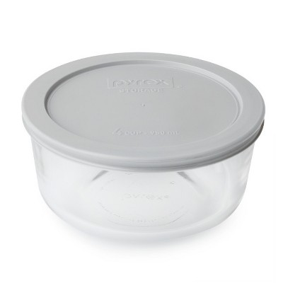 Pyrex 4 cup Food Storage ContainerGray