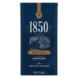 1850 Black Gold Dark Roast Ground Coffee - 12oz