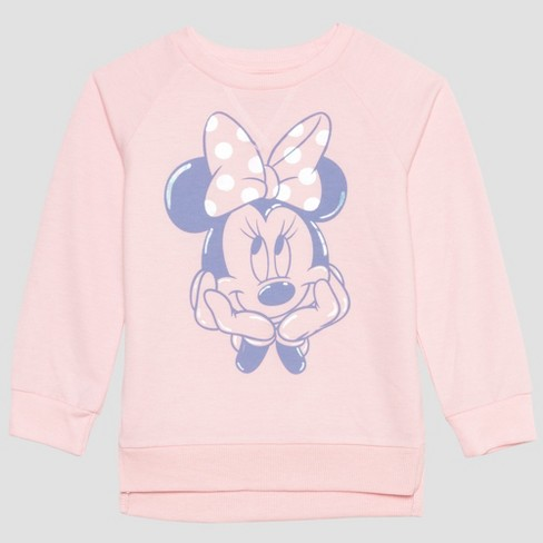018932034f Toddler Girls' Mickey Mouse and Friends Minnie Mouse Sweatshirt - Pink
