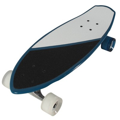 "Kryptonics 23"" Mini Fat Cruiser Board - White/Blue"