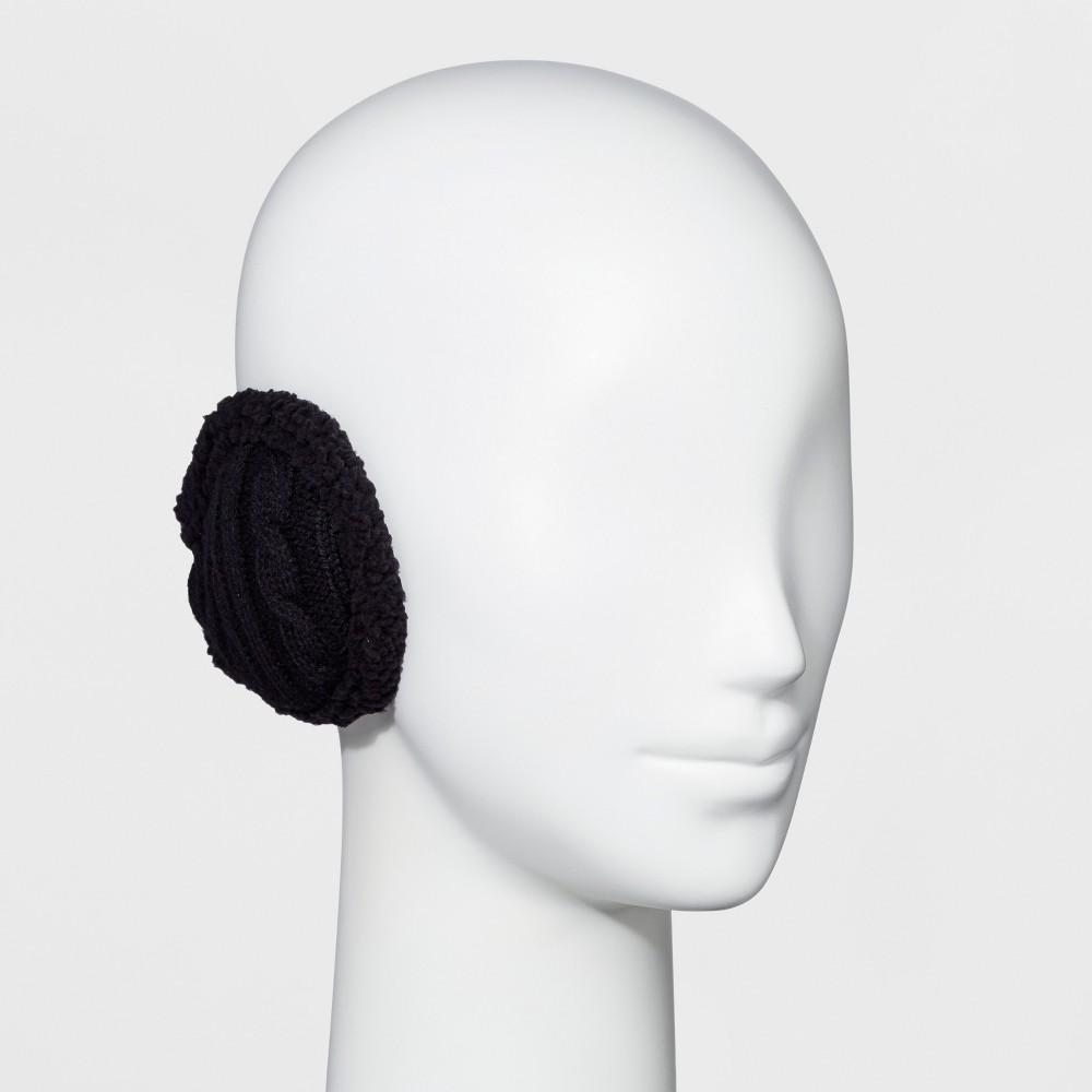 Image of Degrees by 180s Women's Cable Knit Ear Warmer - Black