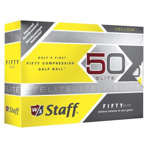 Wilson® Staff Fifty Elite Golf Balls 12pk - Yellow - image 1 of 1