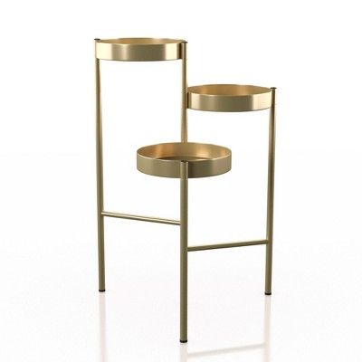 Anse 3 Tier Indoor Plant Stand Gold - HOMES: Inside + Out