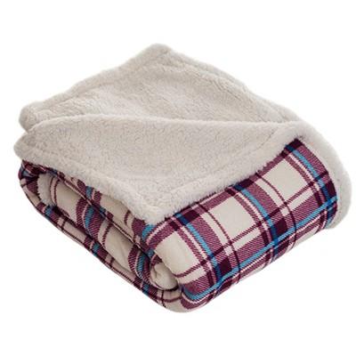"50""x60"" Fleece Sherpa Throw Blanket Brown/White - Trademark Global"