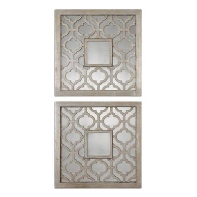 Square Sorbolo Mirror Set of 2 Silver - Uttermost