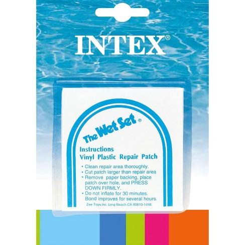 INTEX Wet Set Adhesive Vinyl Plastic Swimming Pool Tube Repair Patch 6 Pack  Kit