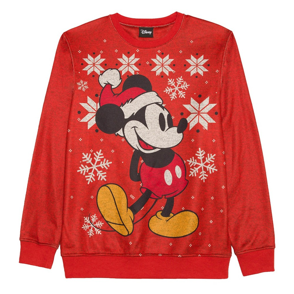 Men's Disney Big & Tall Mickey Mouse Sweater - Red LT, Size: XL Tall