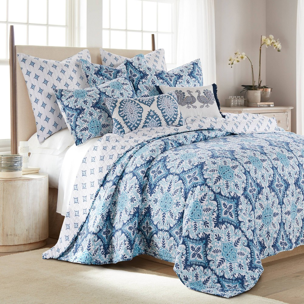 King Essella Indigo Quilt Set Blue Homthreads