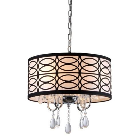 17 X 17 X 19 Tallalluh 4 Light Chrome Chandelier Black Silver Warehouse Of Tiffany Target