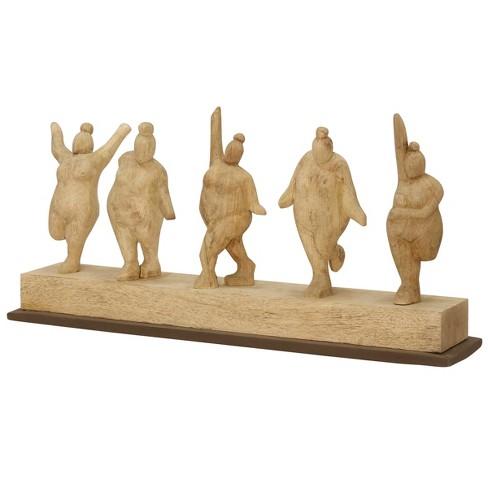 Decorative Figurine Wooden Women Dancing - image 1 of 1