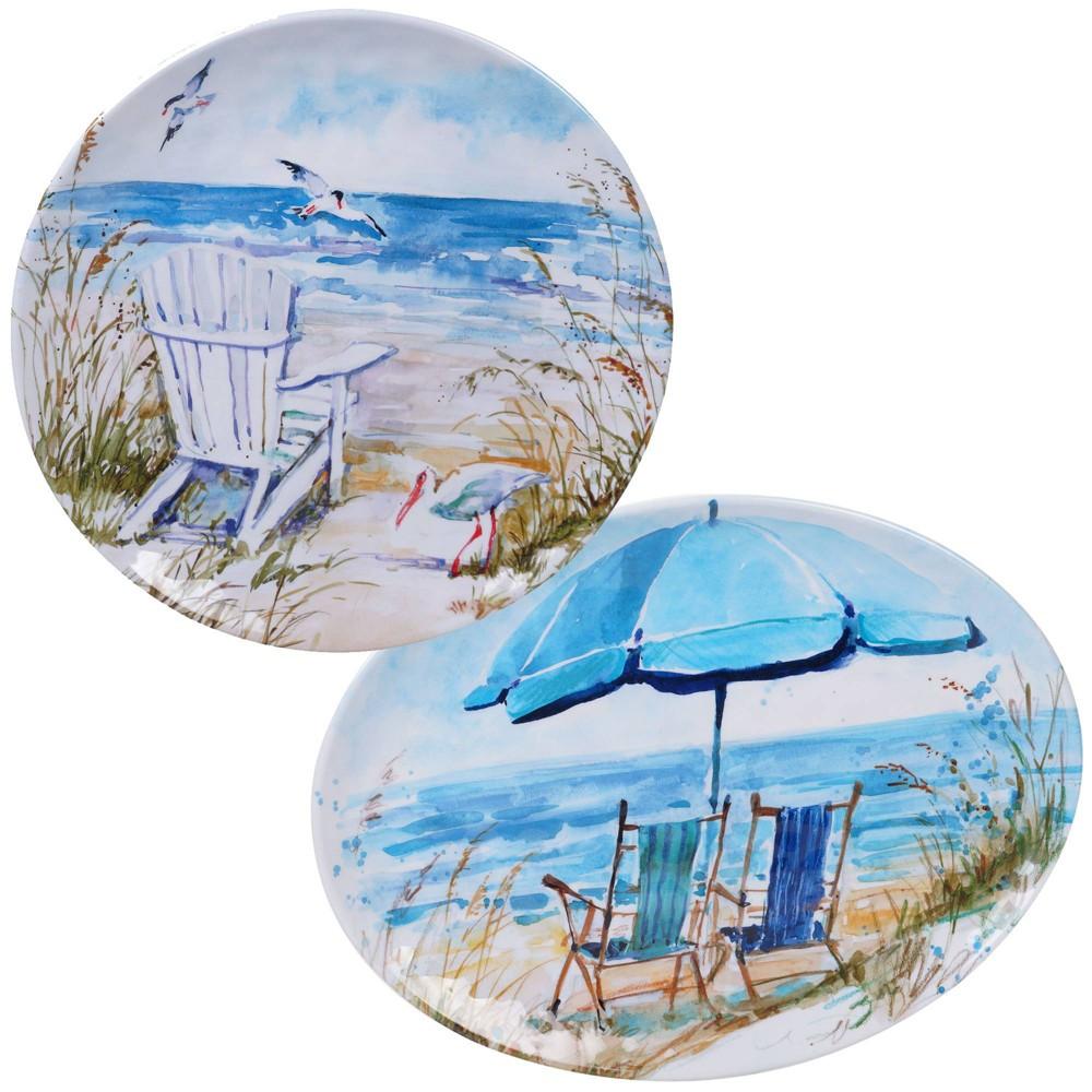 Image of 2pc Melamine Ocean View Serving Platter Set - Certified International