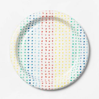 "Dots Printed Paper Plate 8.5"" - 60ct - Up&Up™"