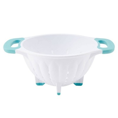 KitchenAid 5qt Colander White/Aqua Sky