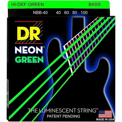 DR Strings NEON Hi-Def Green Bass SuperStrings Light 4-String