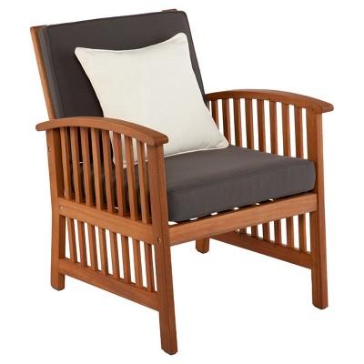 Castille 2 pc Brazilian Hardwood Outdoor Armchair Set - Natural - Aiden Lane