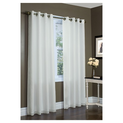 Thermavoile Rhapsody Lined Grommet Top Curtain Panel Target