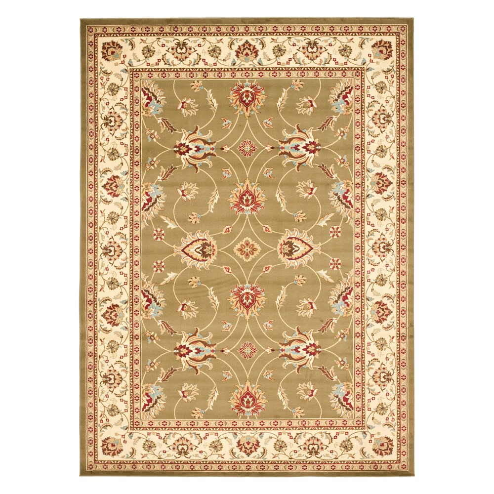 8'9X12' Floral Loomed Area Rug Green/Ivory - Safavieh