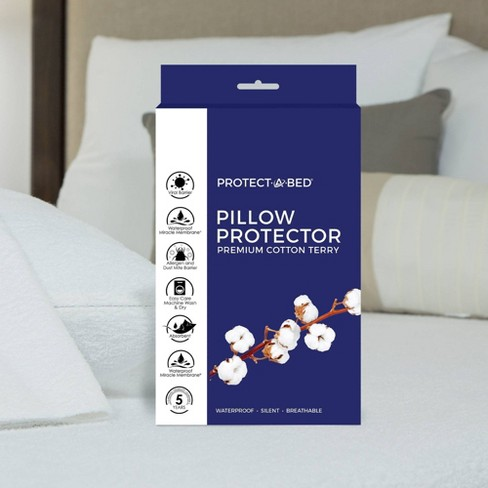 Premium Pillow Protector with Allergen & Viral Protection - Protect-A-Bed - image 1 of 4