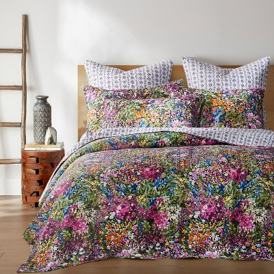 Basel Floral Quilt and Pillow Sham Set - Levtex Home