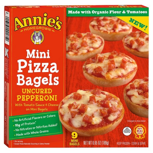 Annie's Frozen  Mini Pizza Bagels Pepperoni - 9ct/6.65oz - image 1 of 3