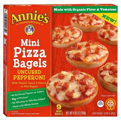 Annie's Frozen  Mini Pizza Bagels Pepperoni - 9ct/6.65oz - image 1 of 3