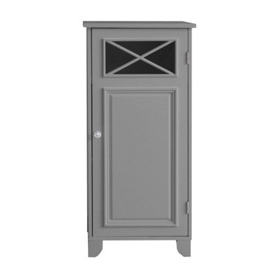 Dawson One Door Floor Cabinet Gray - Elegant Home Fashions