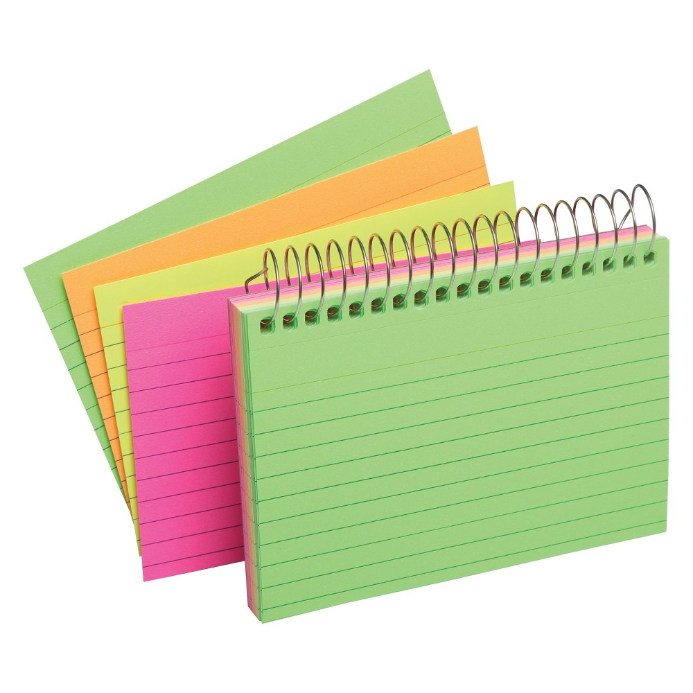 Index Cards Top Spiral Ruled 3 x 5 Multicolor - Up&Up